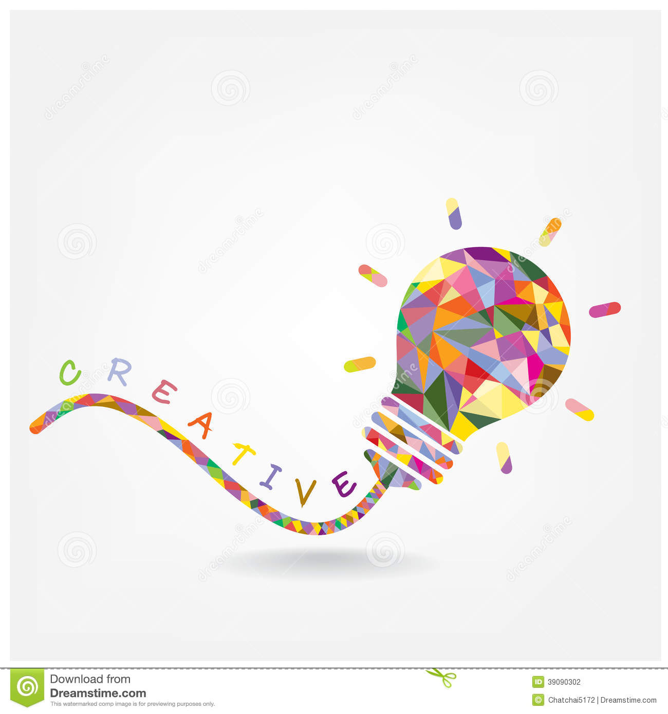 Creative light bulb Idea concept background design for poster flyer ...