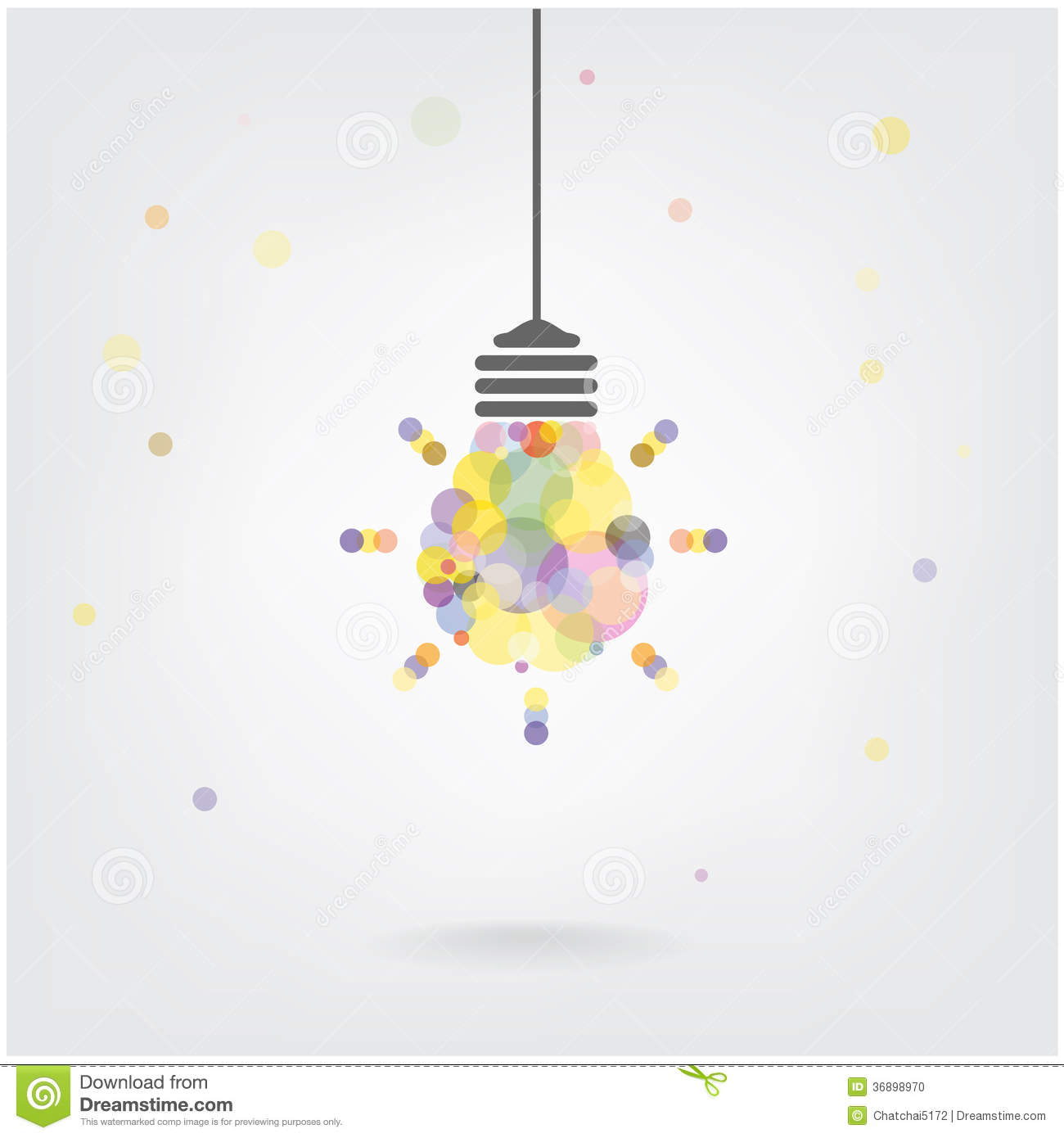 Creative Light Bulb Idea Concept Background Stock Photo ...