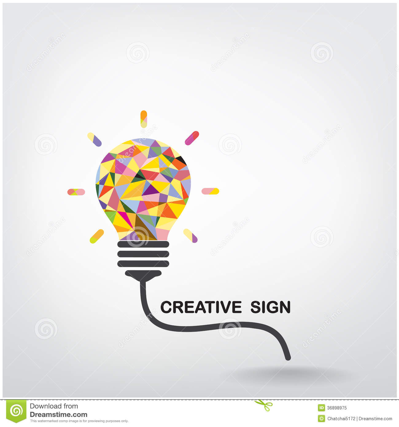 Creative light bulb idea concept background stock vector for Conceptual designs
