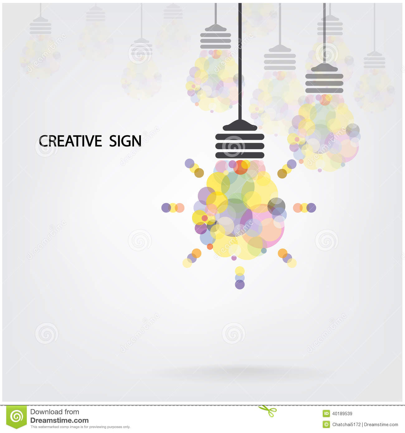 Creative Light Bulb Idea Concept Background Design Stock ...