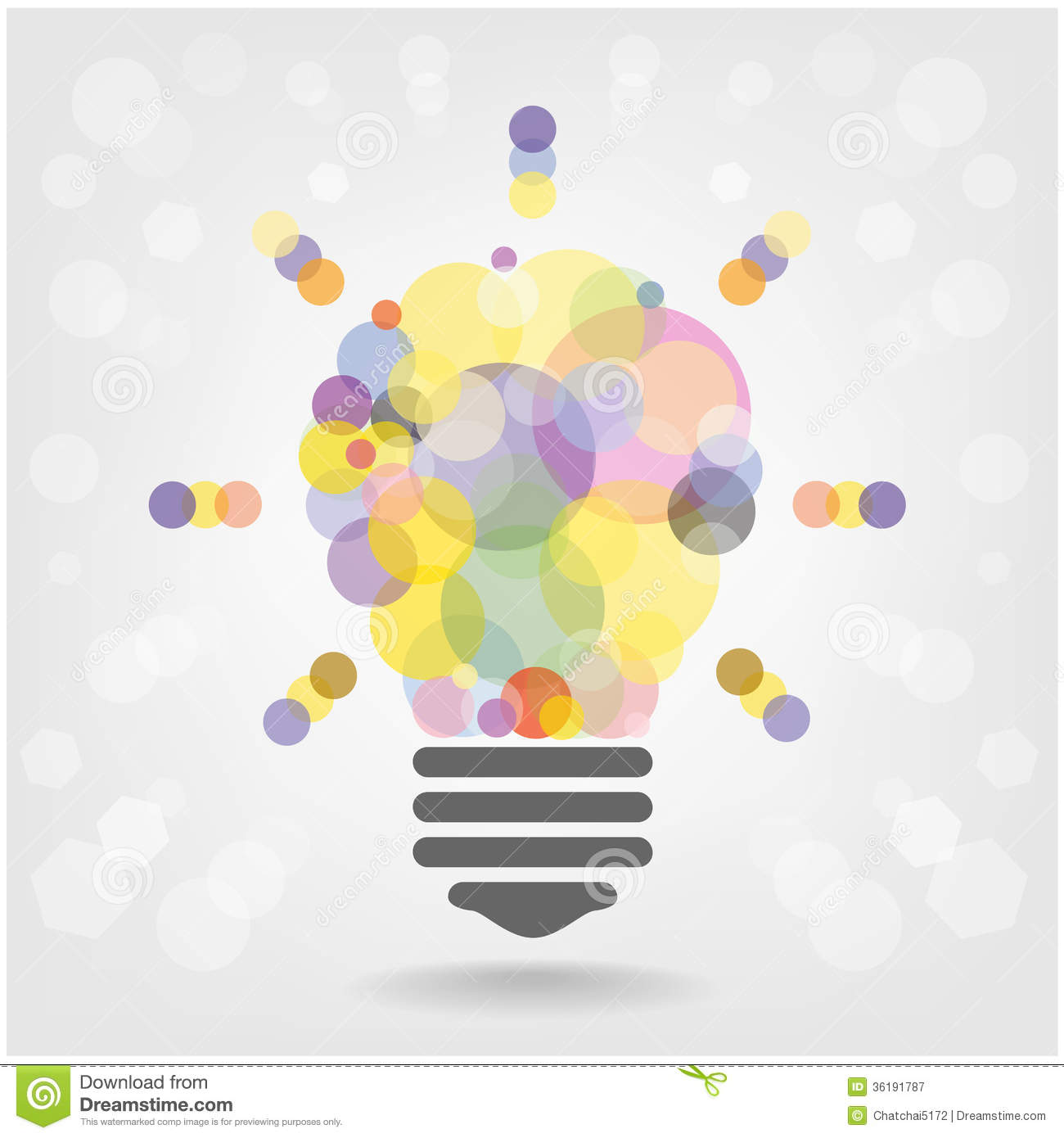 creative light bulb idea concept background design stock vector