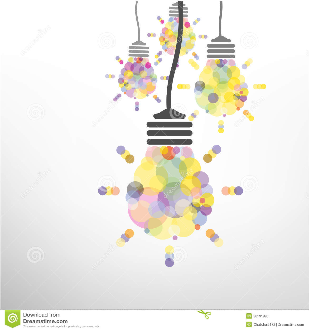 Abstract Background Brochure Bulb Business Concept Creative Design Flyer  Idea ...
