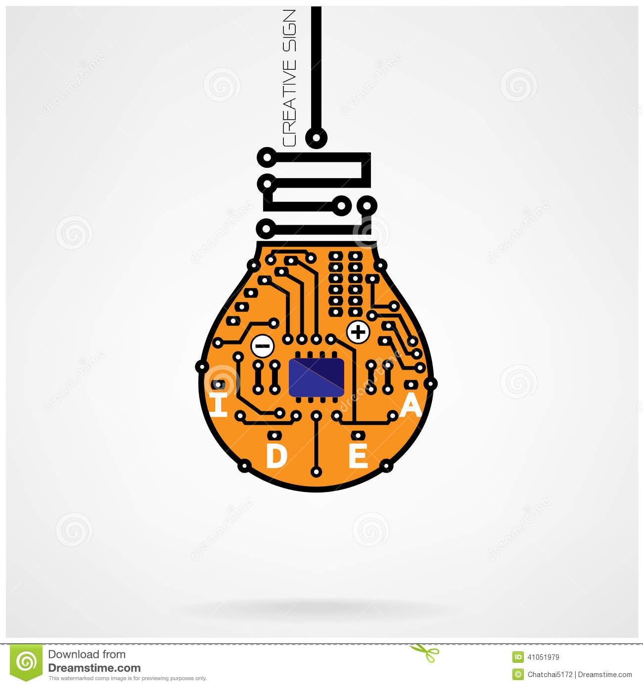 Creative Light Bulb Idea Concept Template ,light Bulb Circuit Sy ... for Bulb Circuit Symbol  177nar