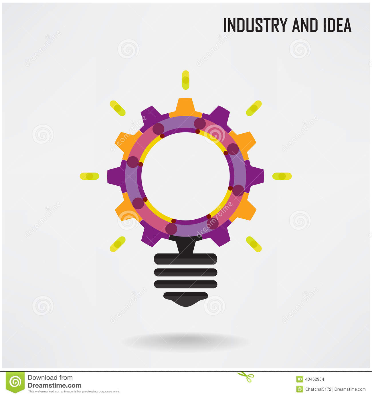 Creative Light Bulb With Industrial Concept Background