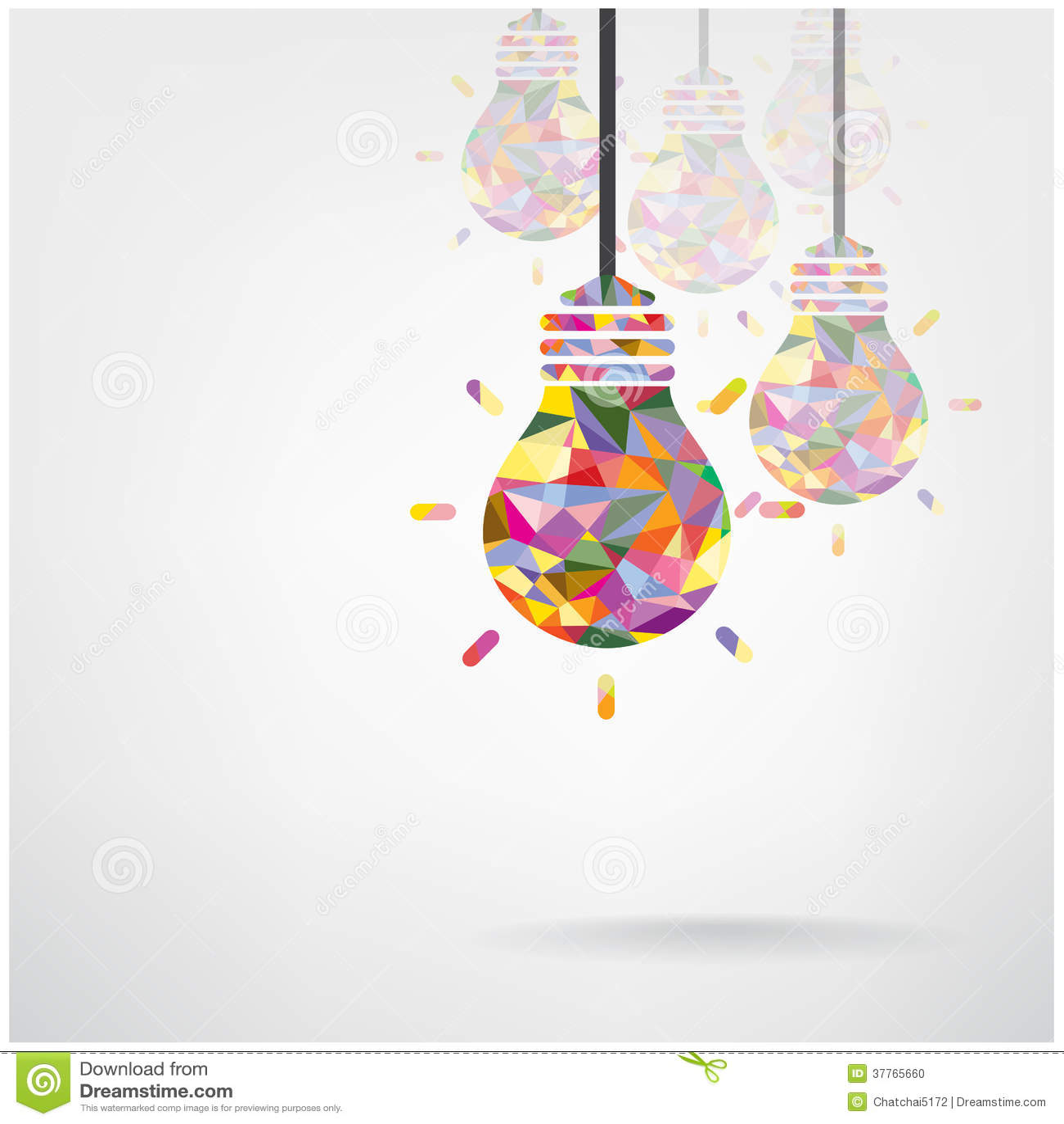 creative light bulb symbols stock vector image 37765660. Black Bedroom Furniture Sets. Home Design Ideas