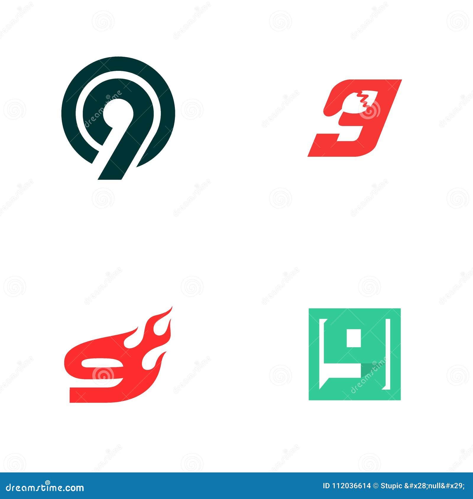 Creative 9 Logo Design Vector Art Logo Stock Illustration - Illustration of  company, font: 112036614