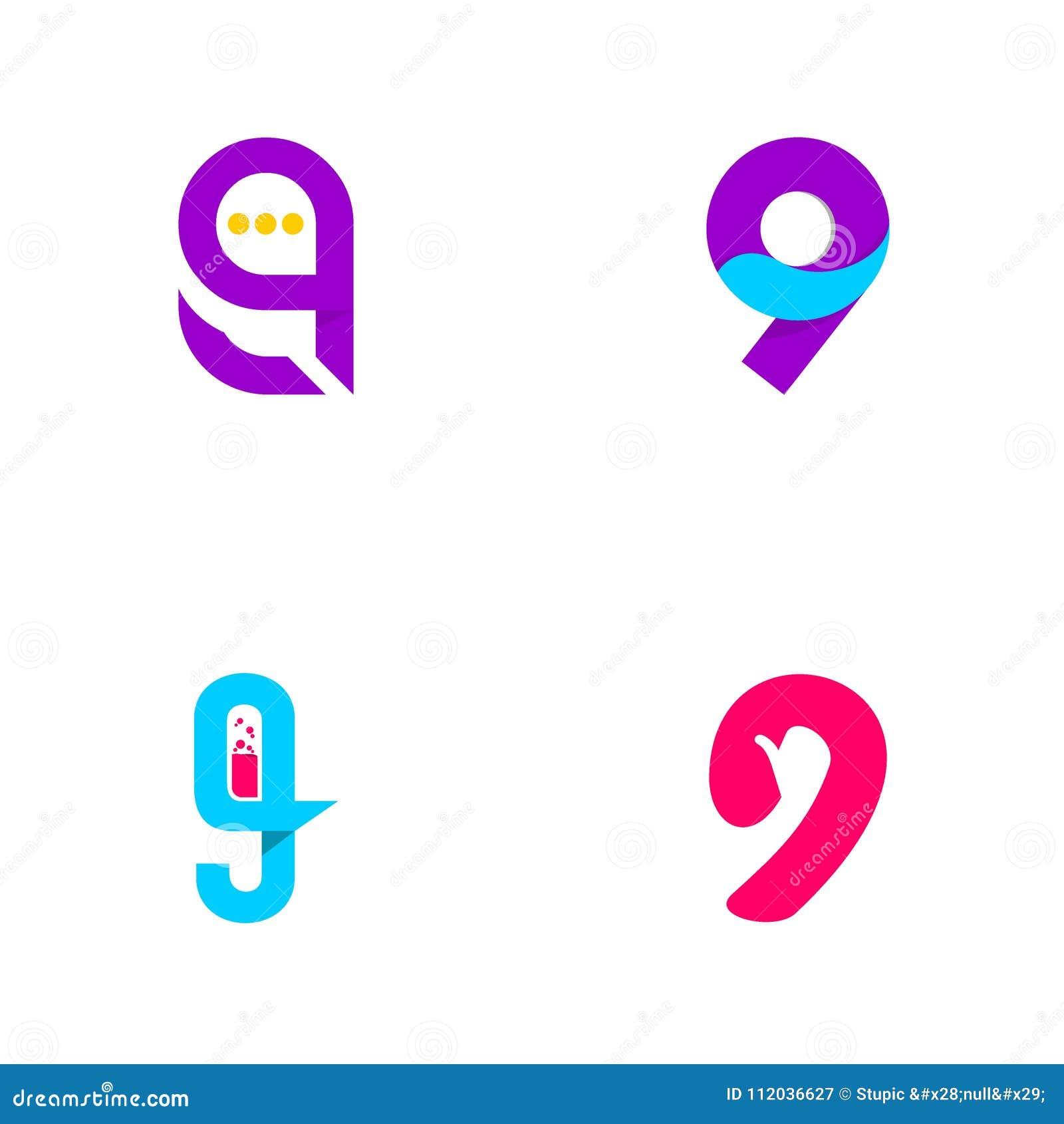 Creative 9 Logo Design Vector Art Logo Stock Vector - Illustration of  celebration, emblem: 112036627