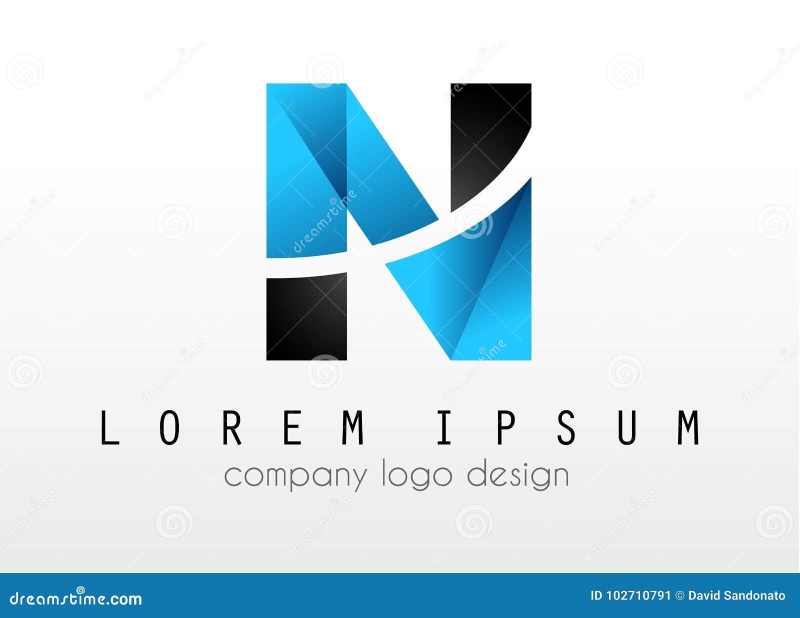 creative logo letter n design for brand identity company profil