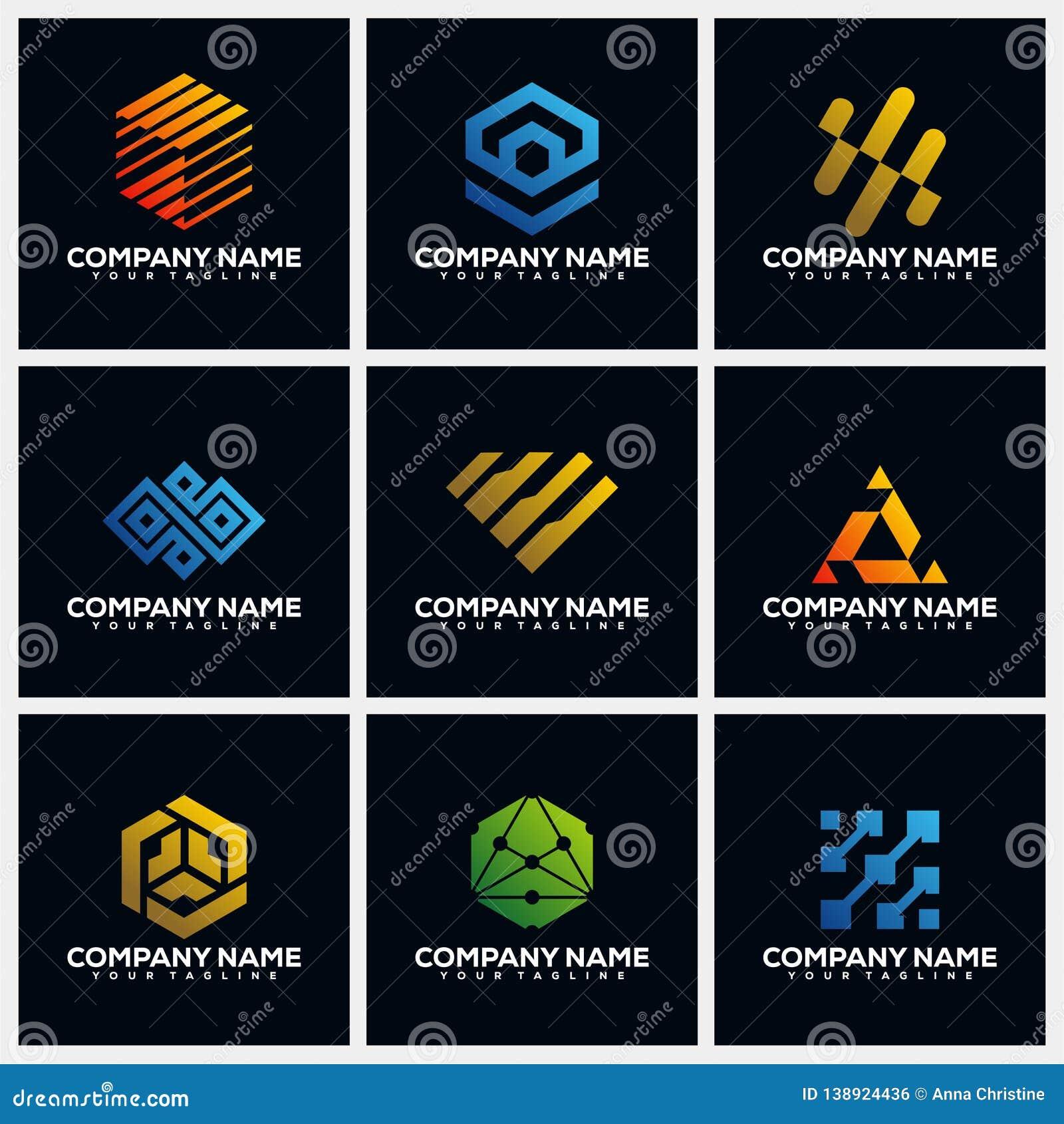 Abstract Pack Creative Logo Design Concept Vector Template