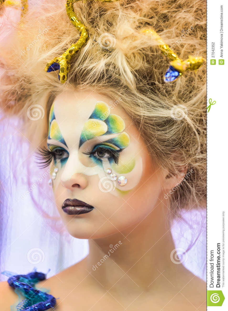Beauty Make Up: Creative Makeup Show At The Festival Of Beauty Editorial