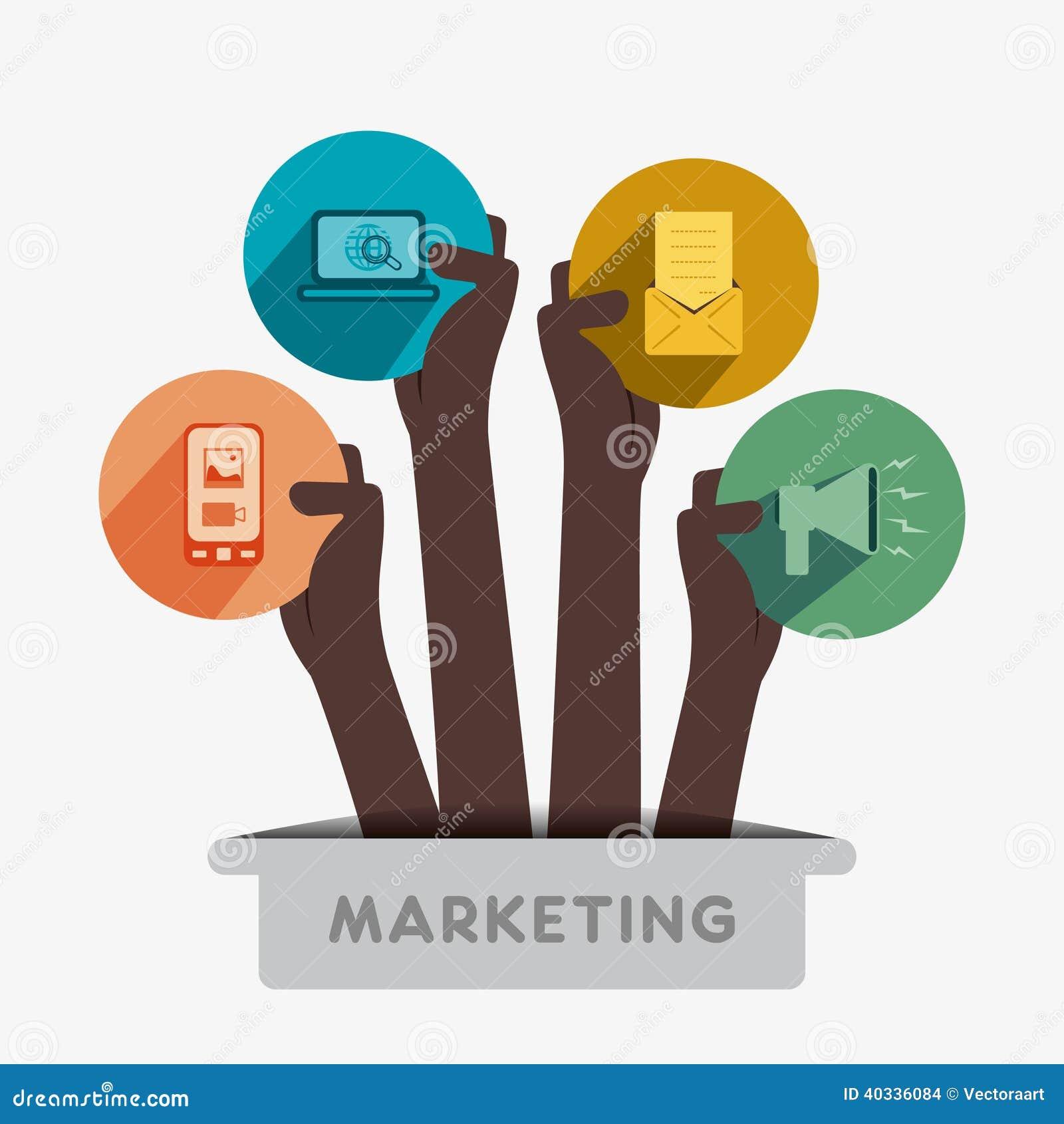 Creative Marketing Icon Stock Vector Illustration Of Flat 40336084