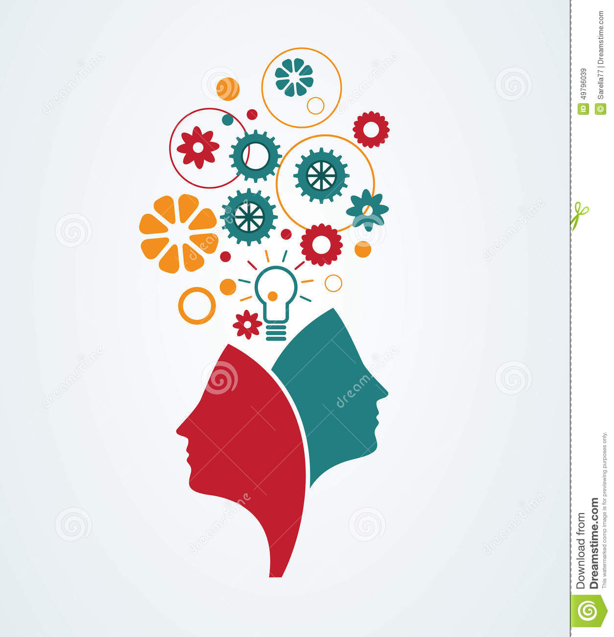 Creative minds stock vector. Illustration of person ...