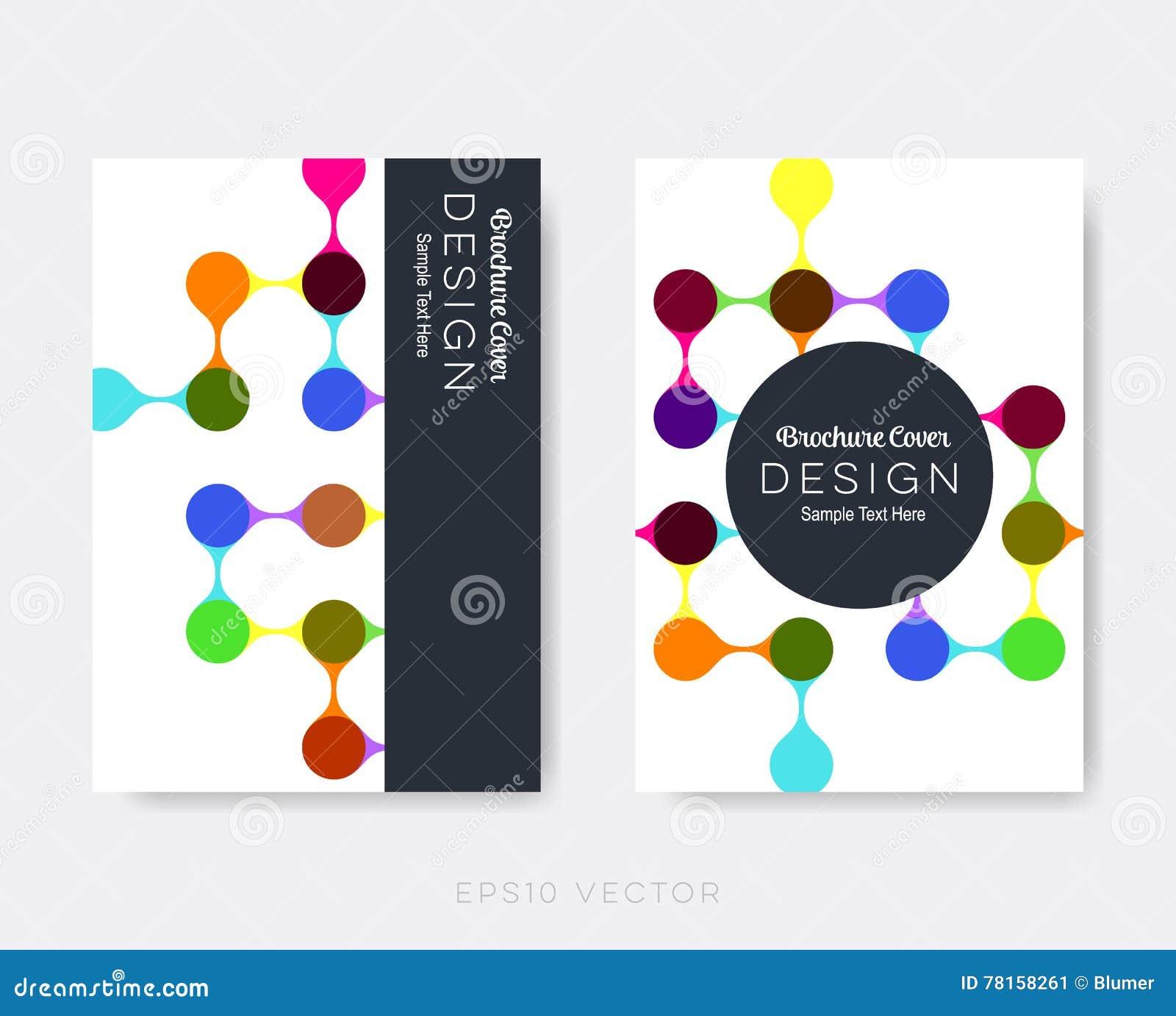 Creative Modern Brochure Design Templates Stock Vector