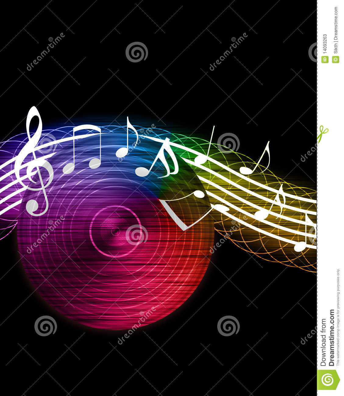 Creative Music Background Stock Photos - Image: 14093263