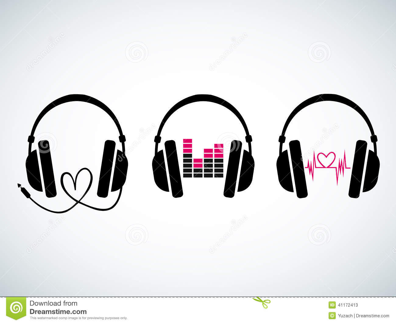 creative music headphones logo set stock vector image headphones vector freepik headphones vector free download