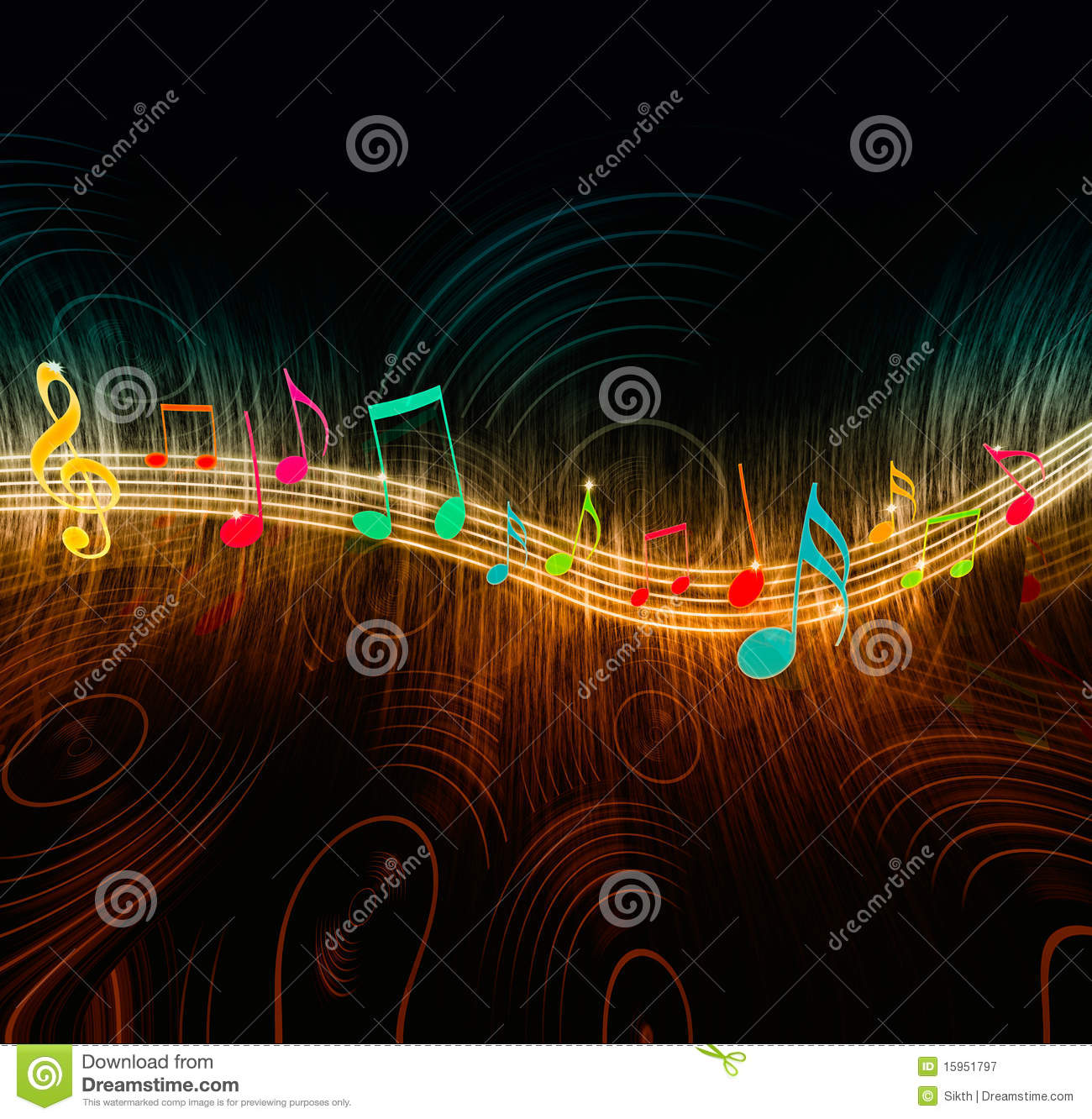 Creative Music Notes Royalty Free Stock Photography ...