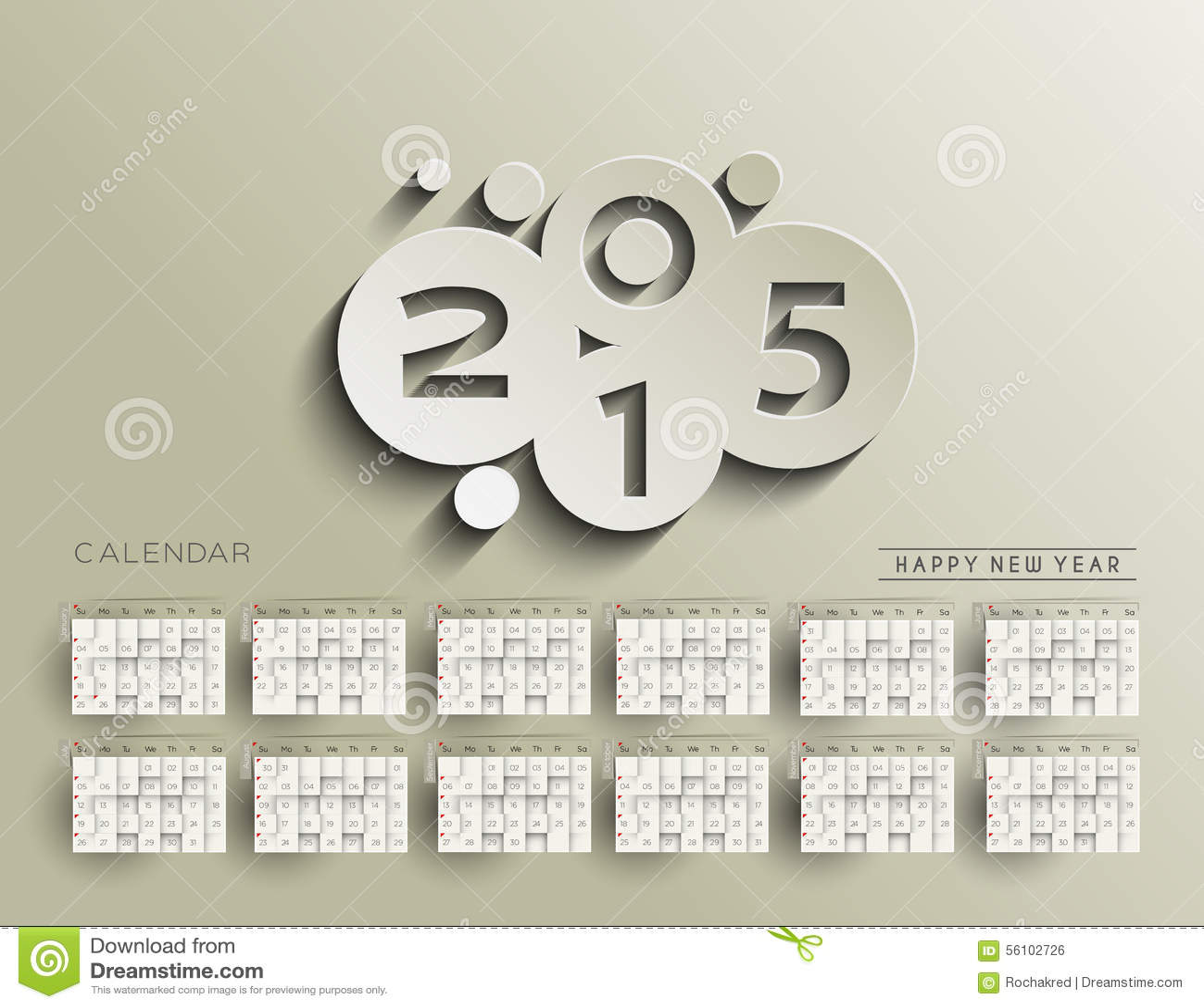 Creative New Year Calendar