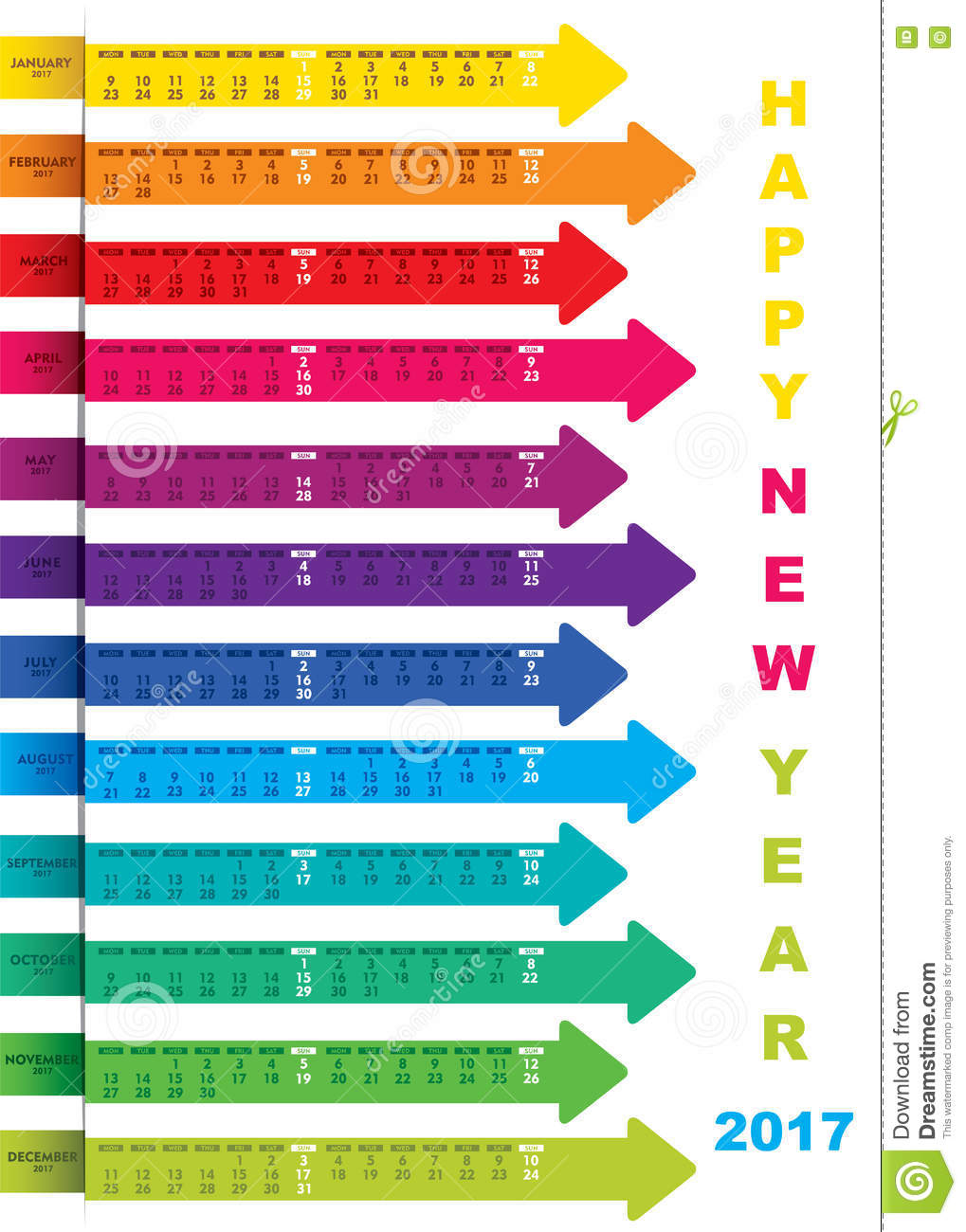 New Year Calendar Designs : Creative new year calendar design stock vector