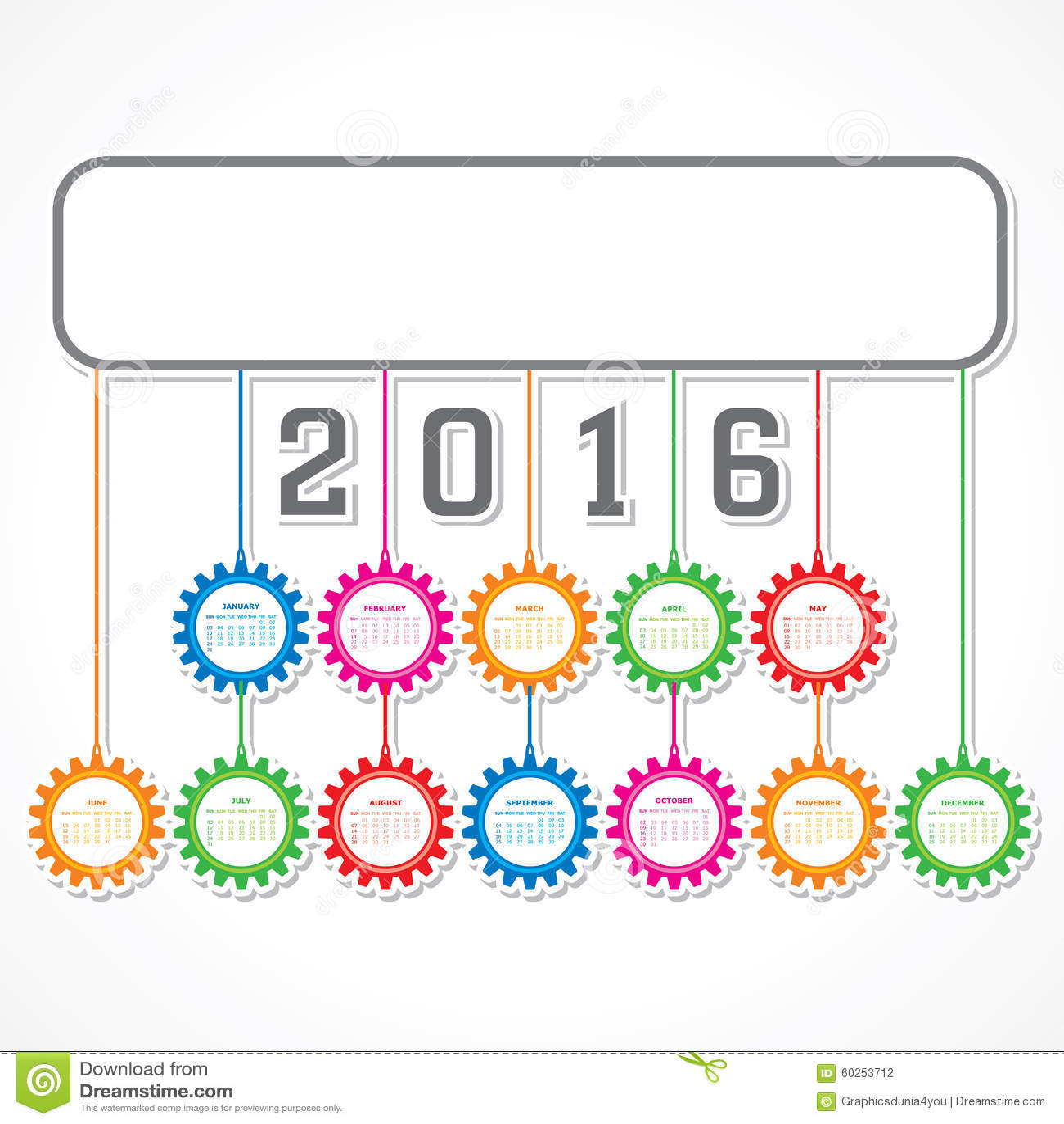 New Year Calendar Design : Creative new year calendar design stock vector
