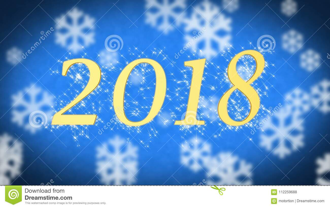 2018 creative new year celebration message on blue snowy background screensaver stock footage video of celebrate creative 112259688