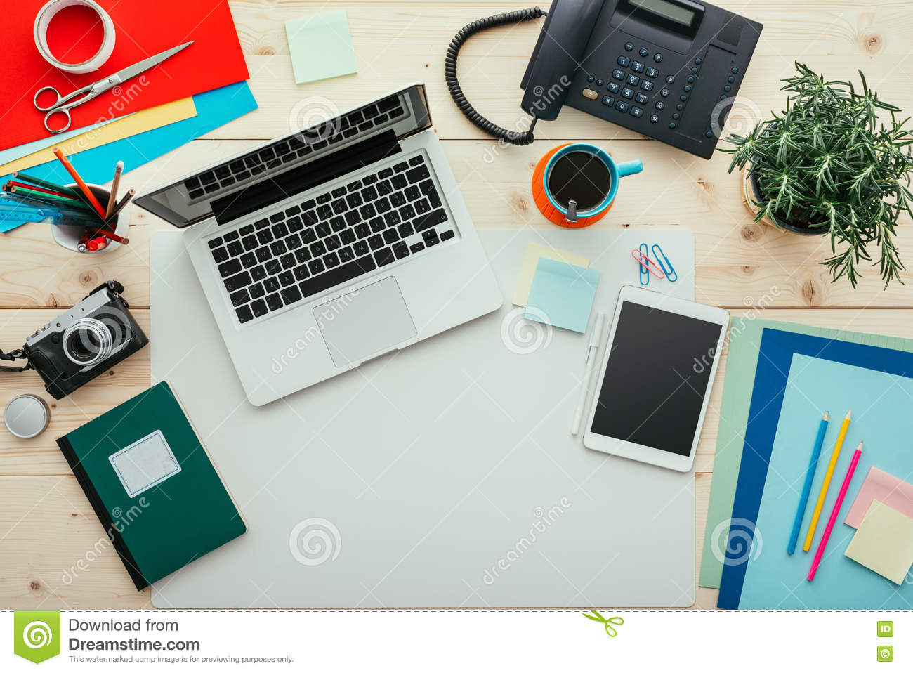 creative office supplies minimalist art creative office stock photo image of computer objects 81697484
