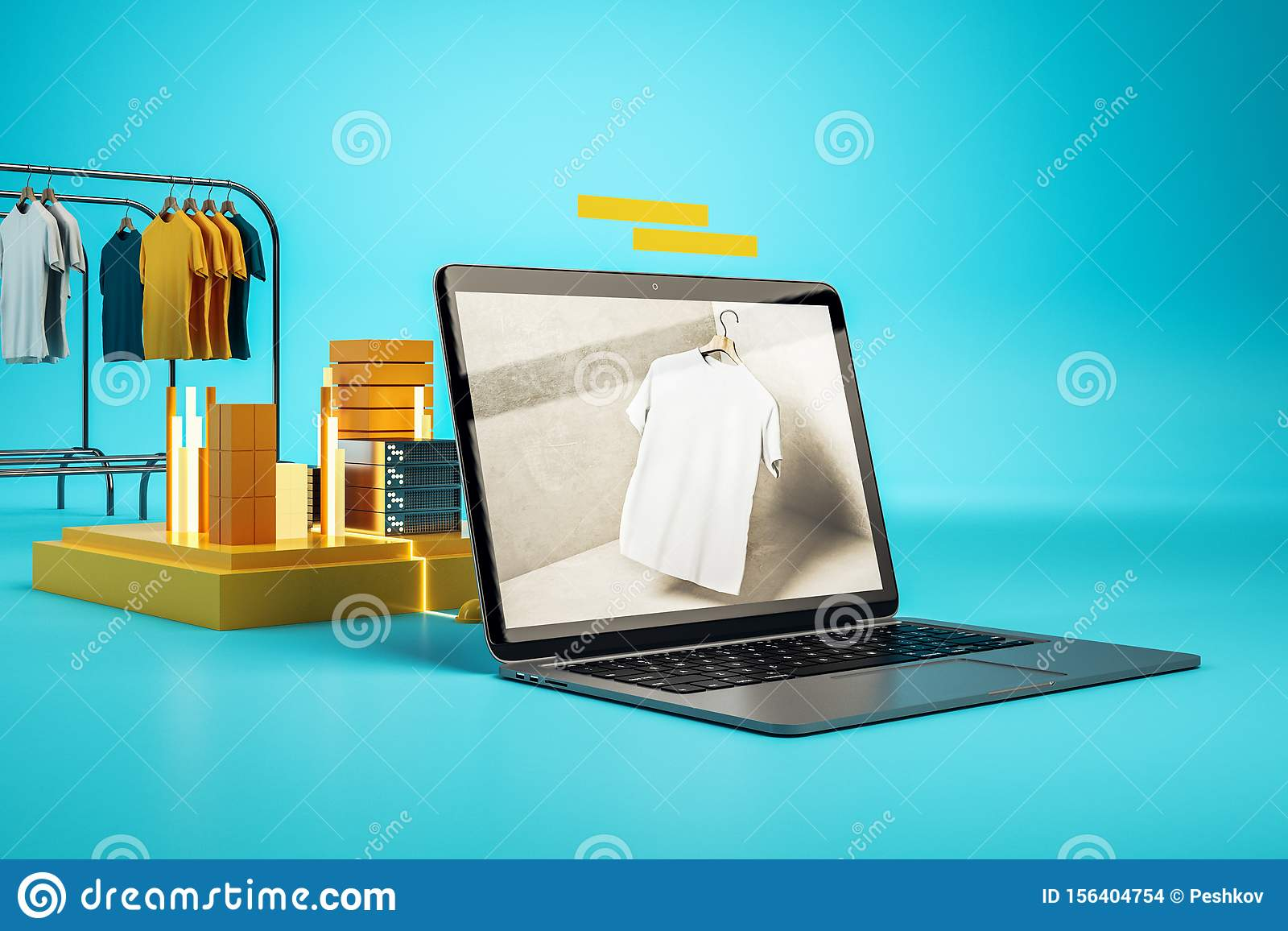 Creative online shopping concept