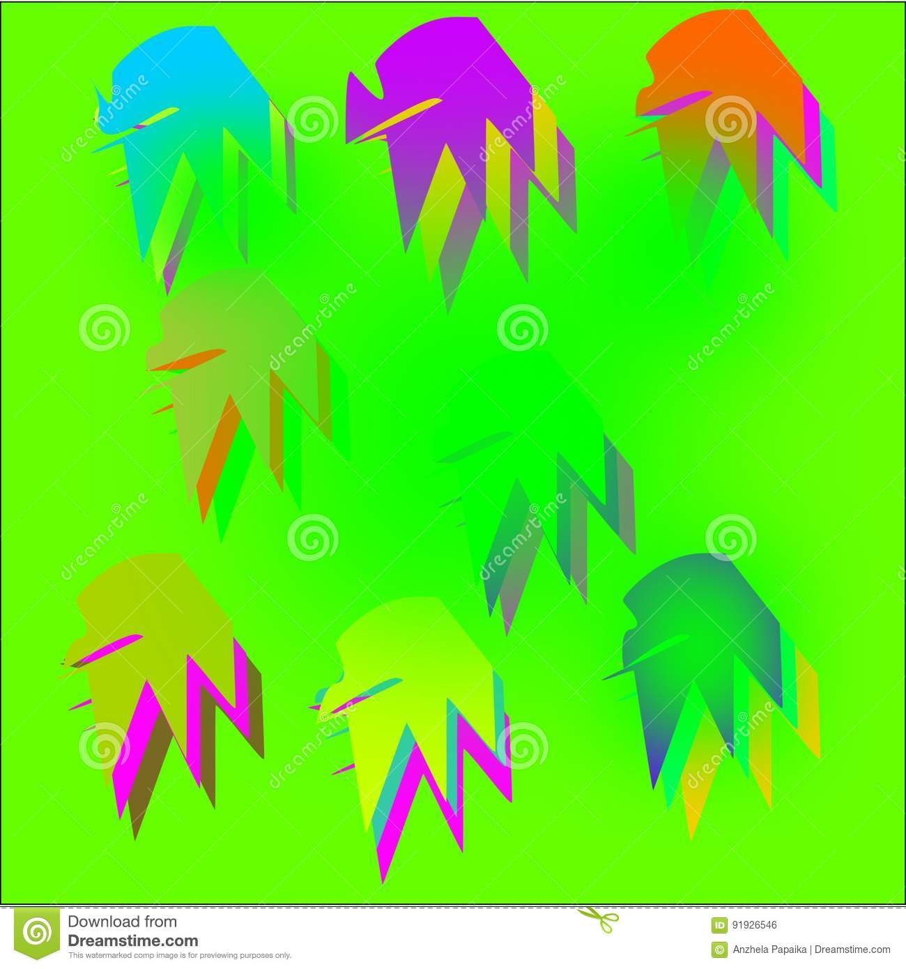 Creative Over Abstract Colored Backgrounds For Greeting Cards And