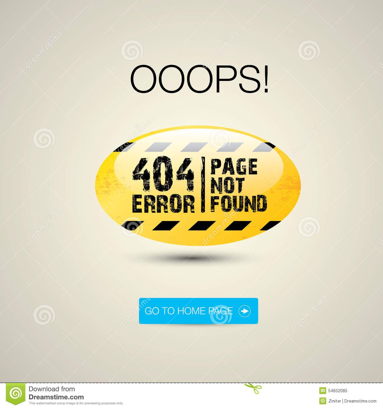 creative page not found  404 error stock vector
