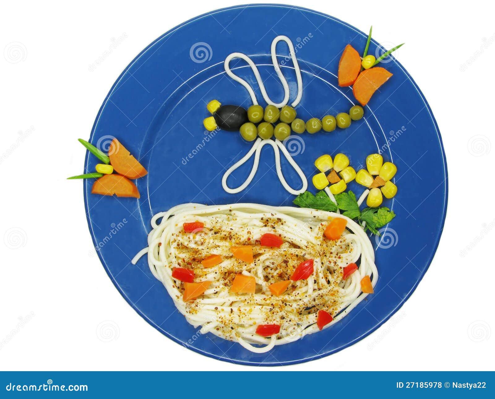 Creative pasta food dragon shape