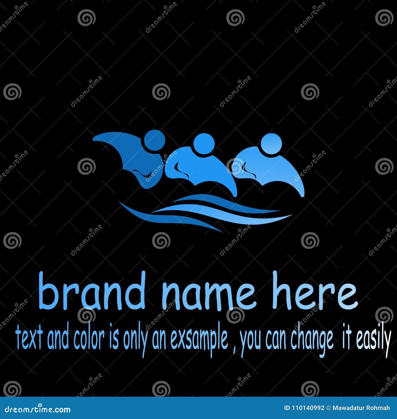 Creative people wave logo