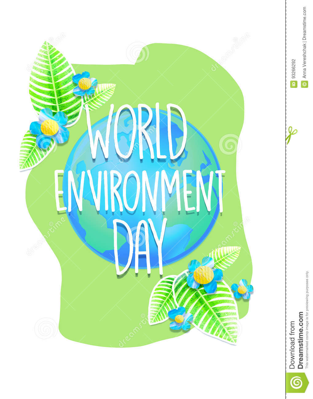 Poster design environment day - Creative Poster Or Banner Of World Environment Day Ecology Protection Holiday Greeting Card Concept