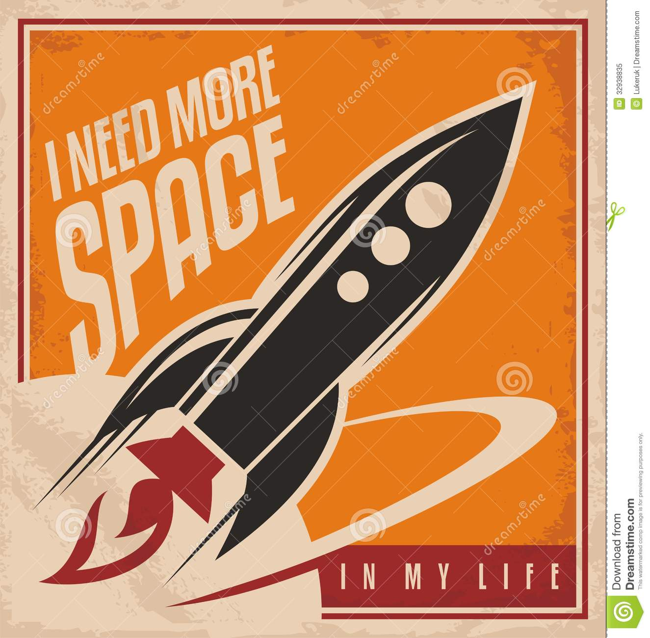 Creative poster design concept stock vector illustration for Retro space design
