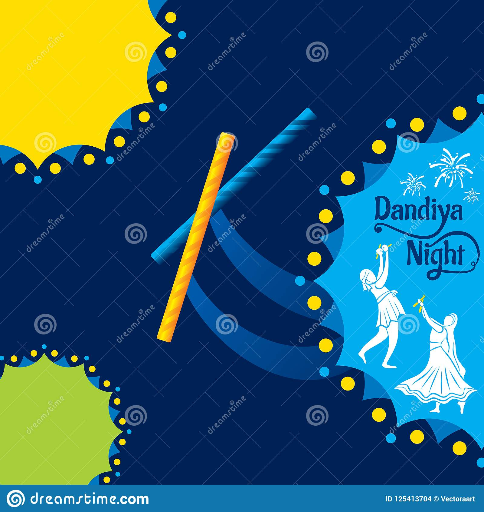 Celebrate Navratri Festival Poster Design Stock Vector