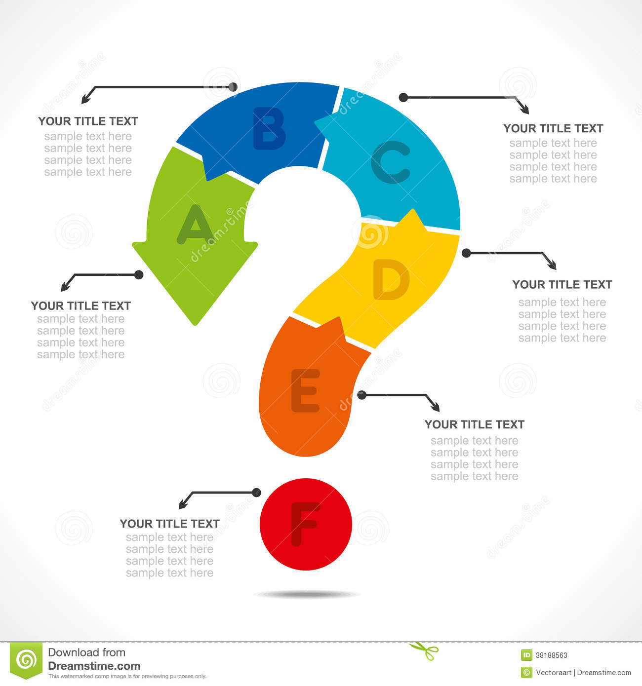 Creative question mark info graphic stock vector for Decorating questions
