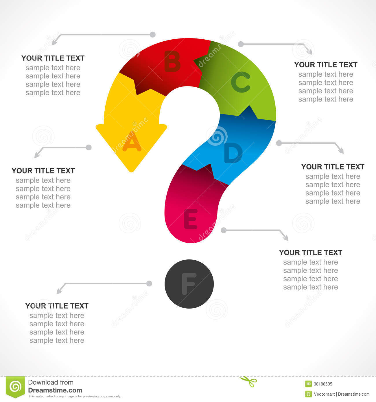 Creative question mark info graphic stock vector image for Decor questions