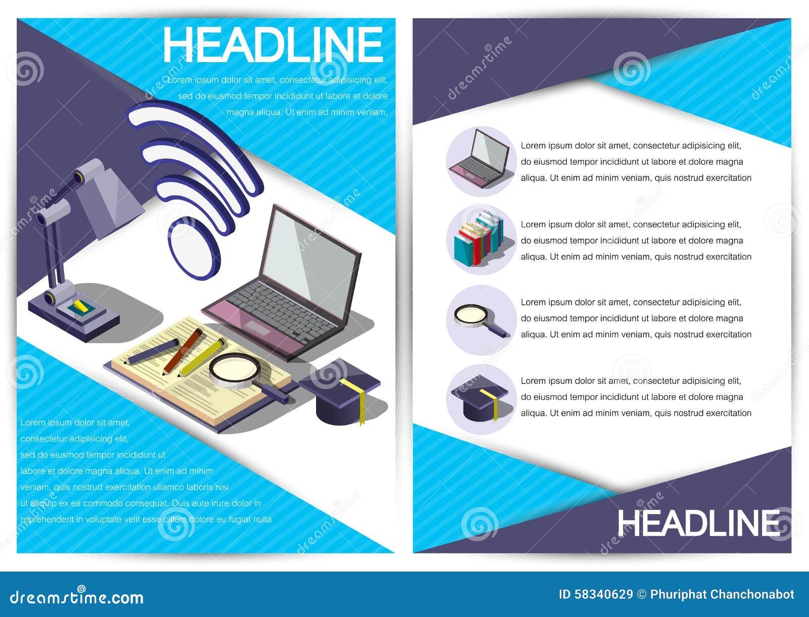 Creative Report Template Flyer Brochure Vector Paper