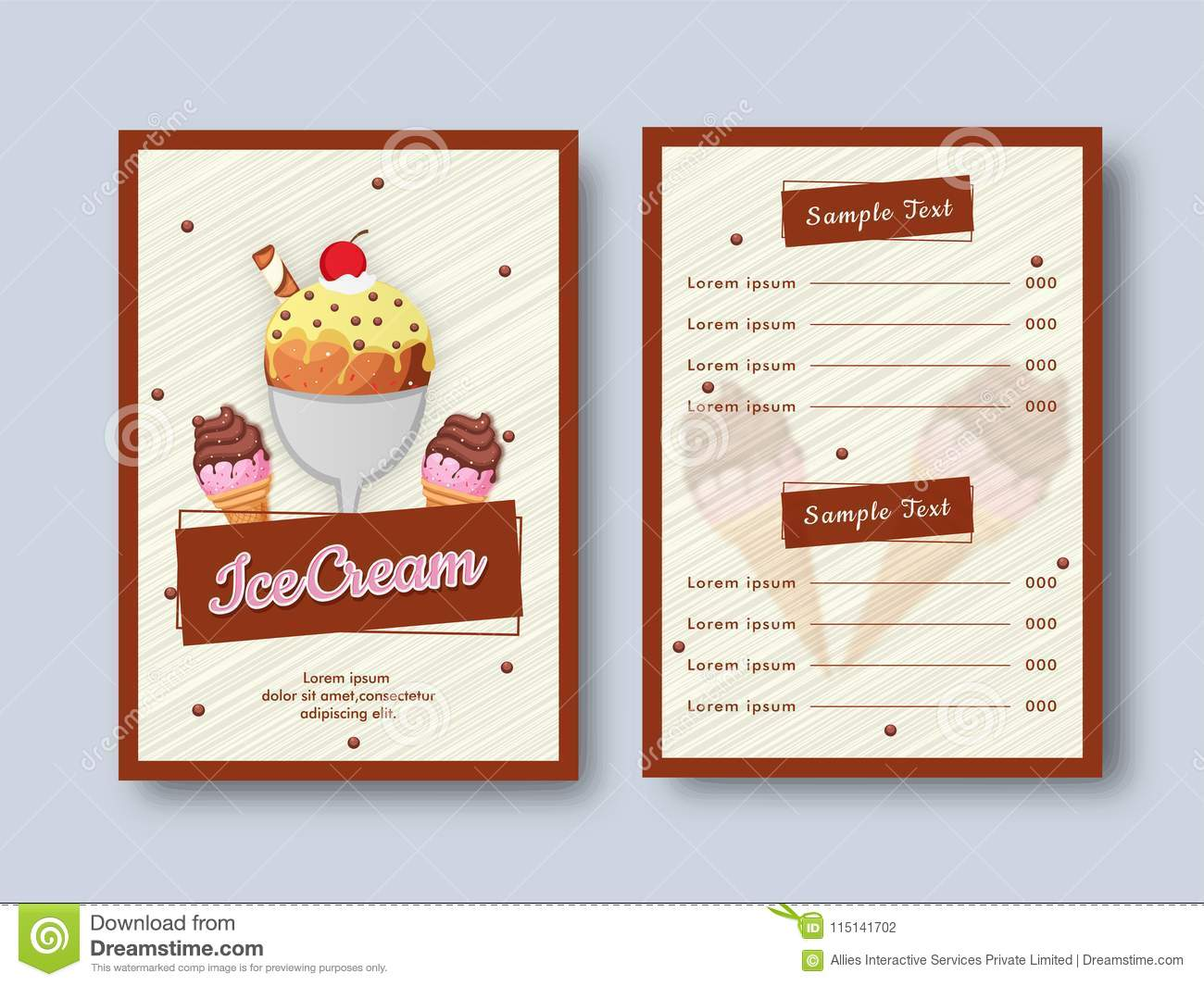 creative restaurant menu card design with front and back page vi