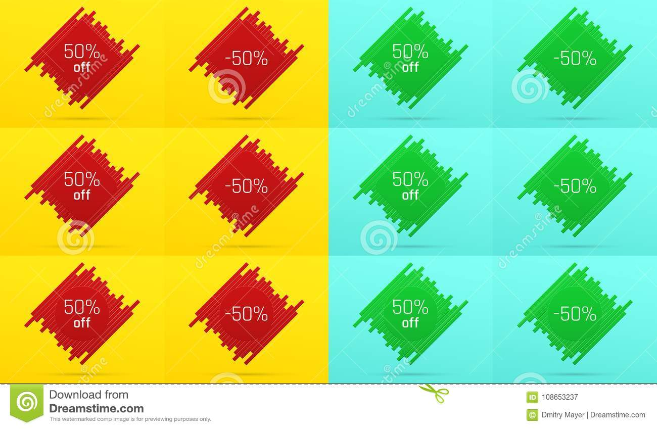 Creative Sale Banner With 50 Off. Offer Stock Vector - Illustration ...