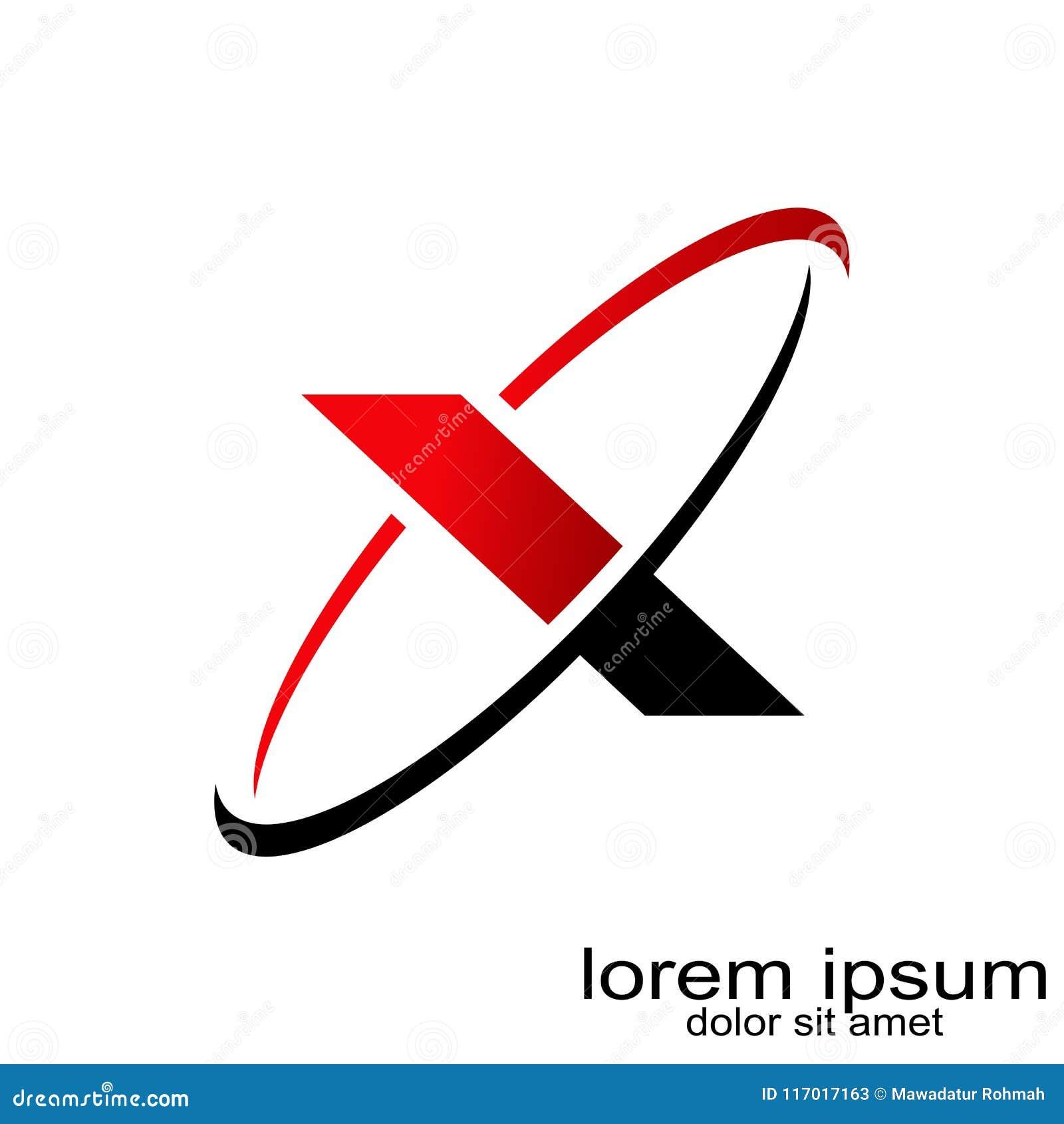 creative sample design letter x logo vector stock vector