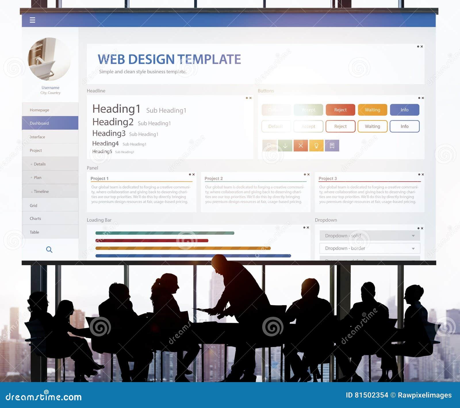 Creative Sample Website Design Template Concept Stock Photo - Image ...