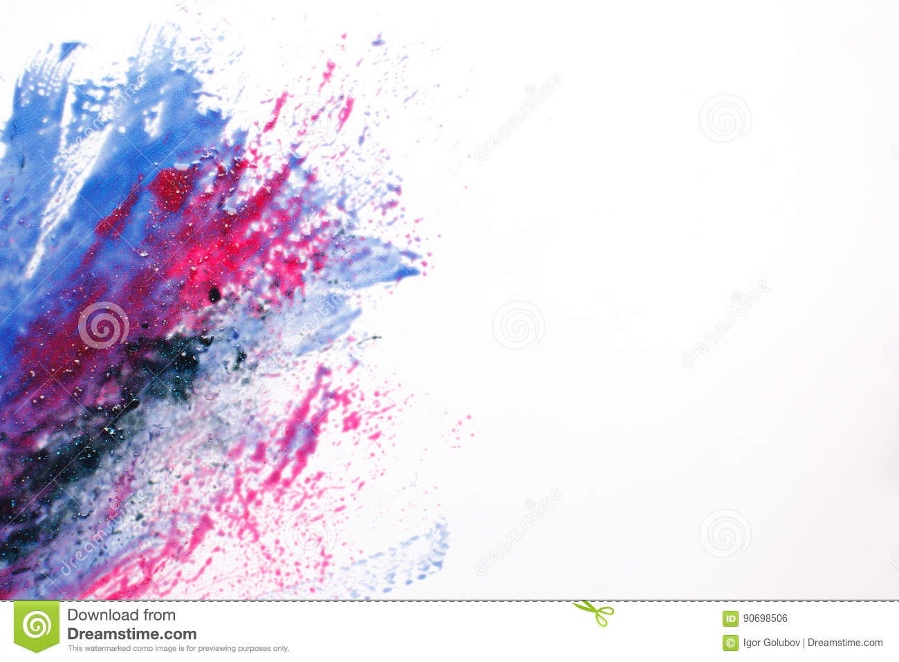 Creative space art, abstract galaxy, mixed colors