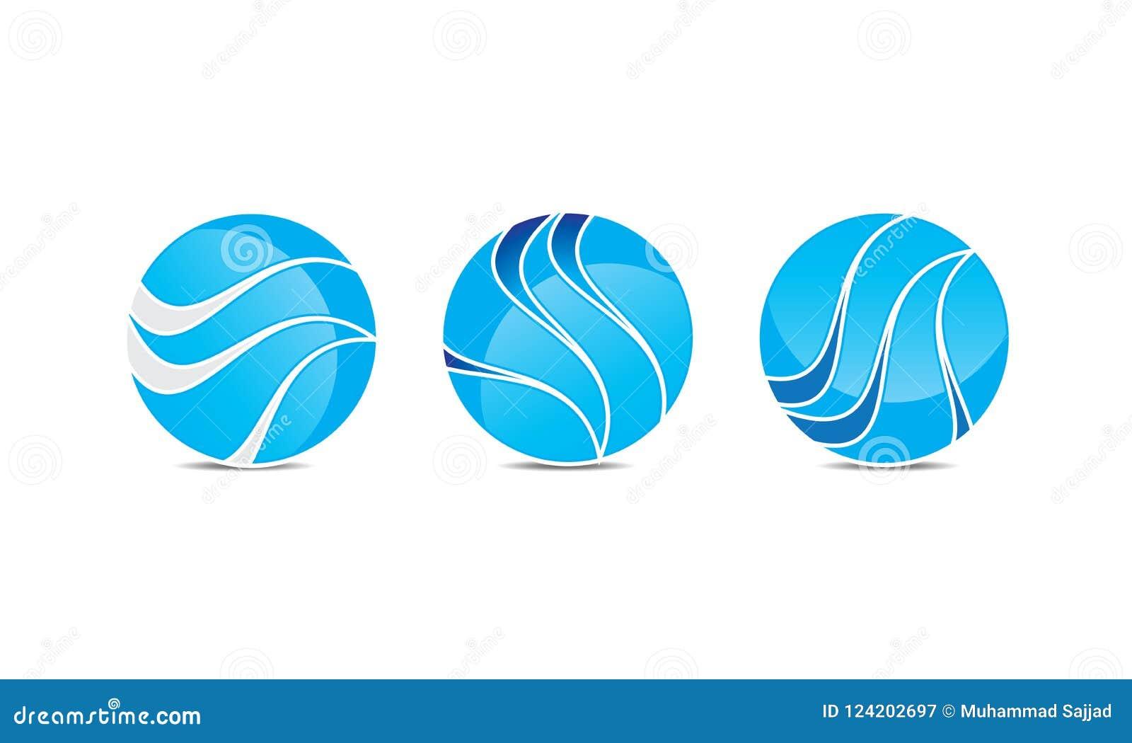 creative sphere logo template rounded circular logo design
