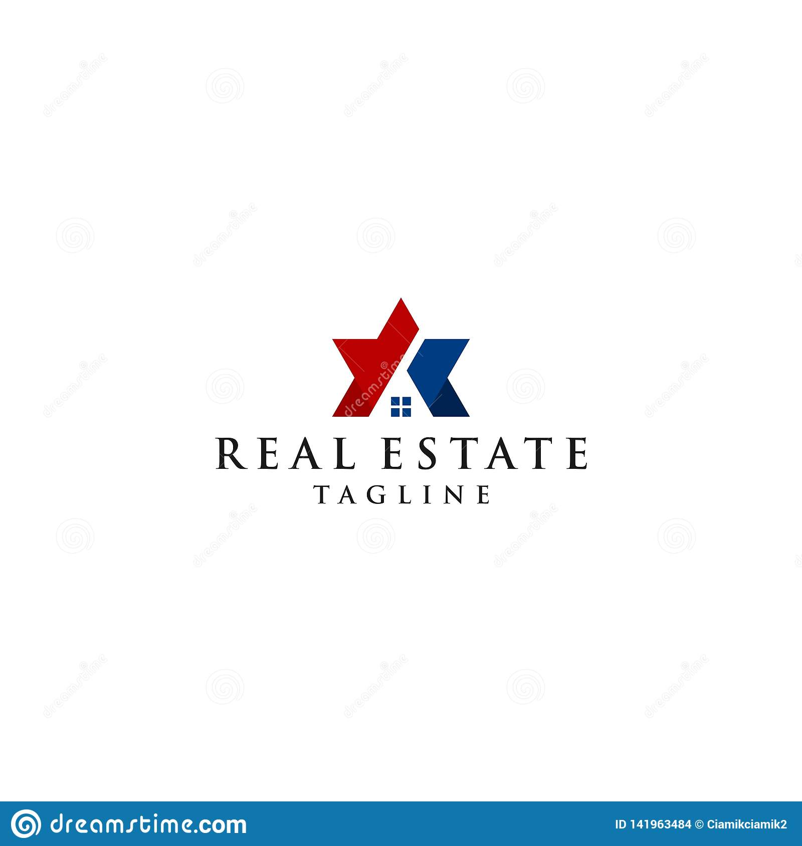 Creative star vector icon and roof of the house