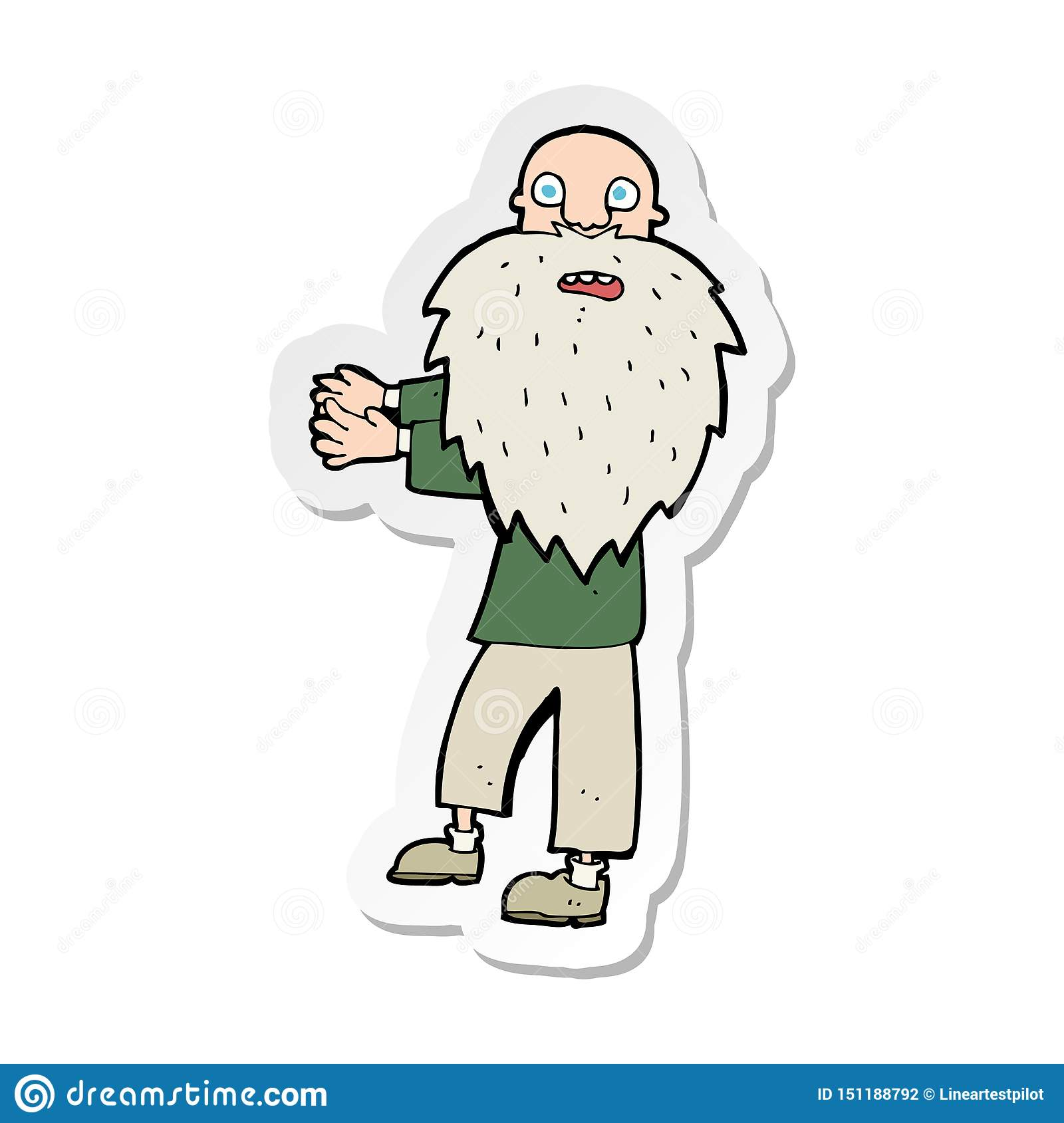Cartoon Bearded Old Man Royalty Free Cliparts, Vectors, And Stock  Illustration. Image 24800508.