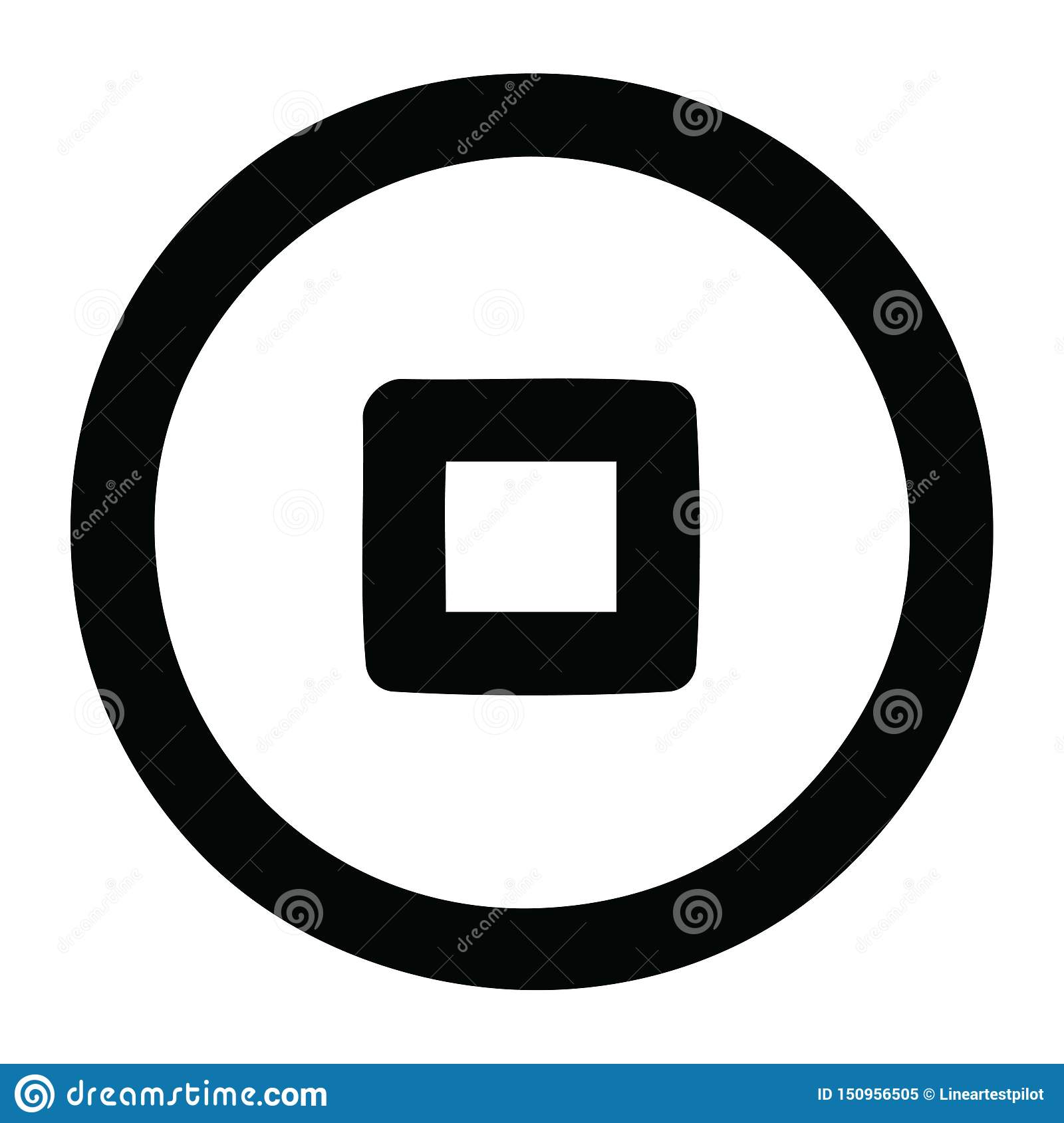A Creative Stop Button Icon Stock Vector - Illustration of