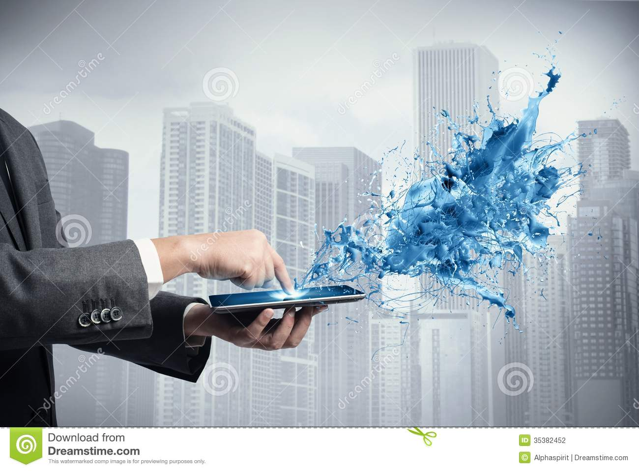 Creative Technology Stock Photo Image Of Career Paint