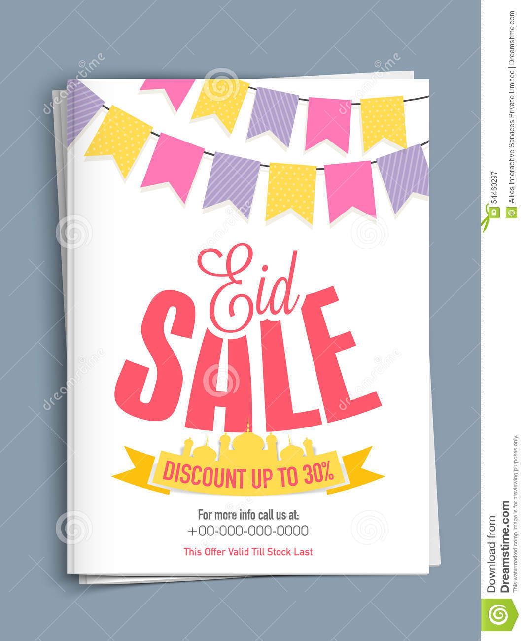 Creative Template Or Flyer Design For Eid Sale Illustration – Sale Flyer Design