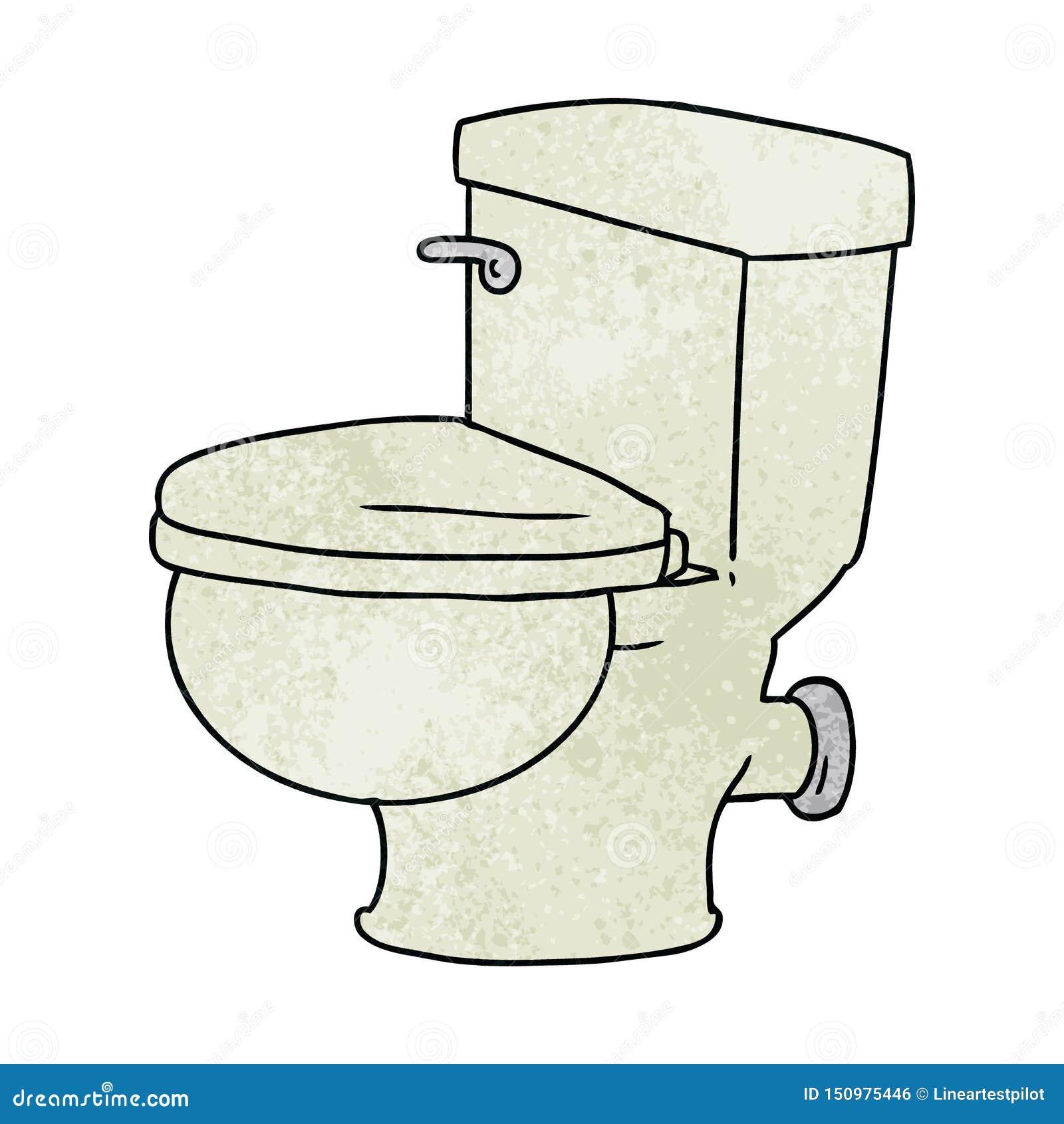 Tecknad Toalett