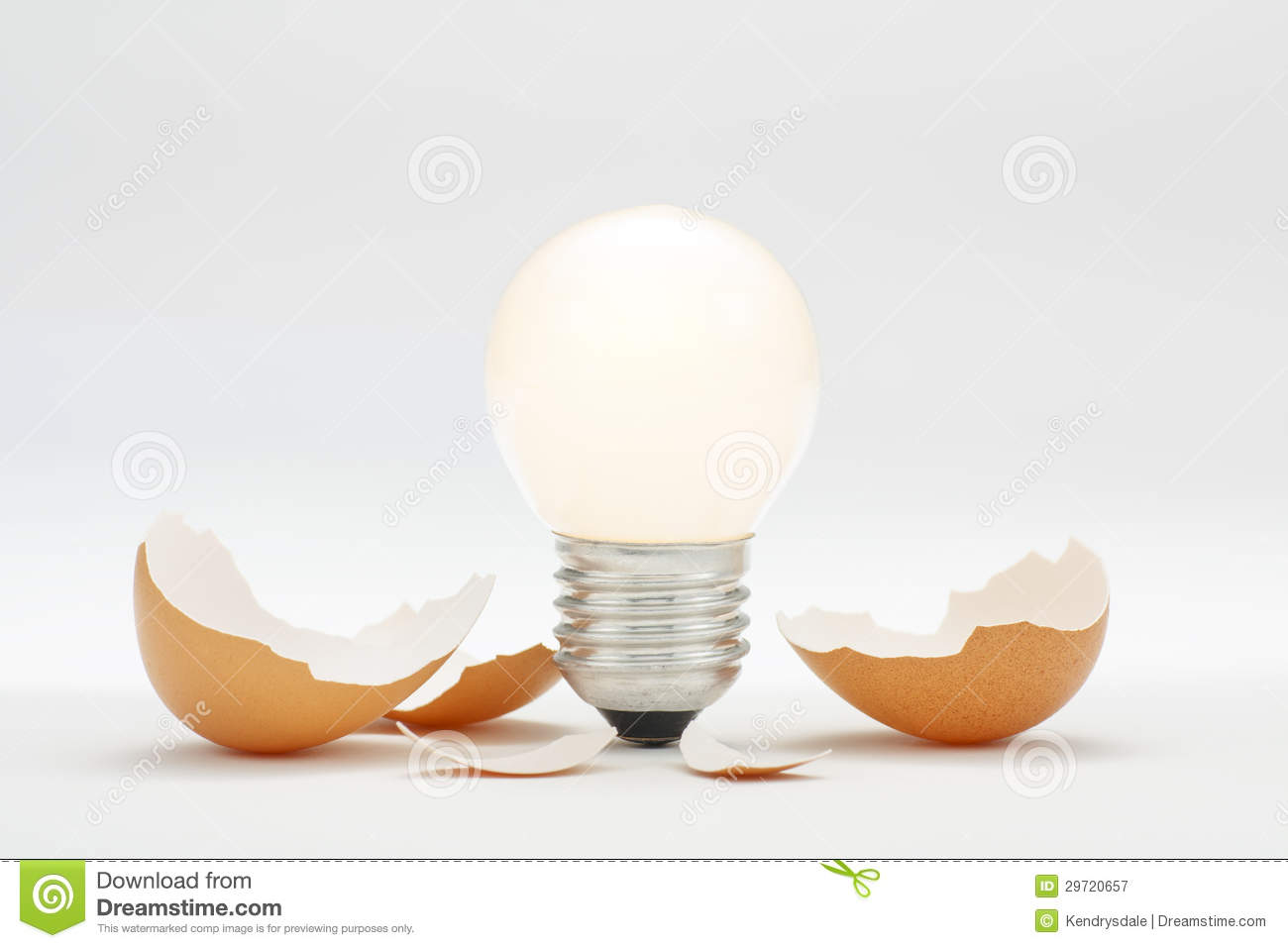 Bright New Innovation Idea Hatching Stock Image