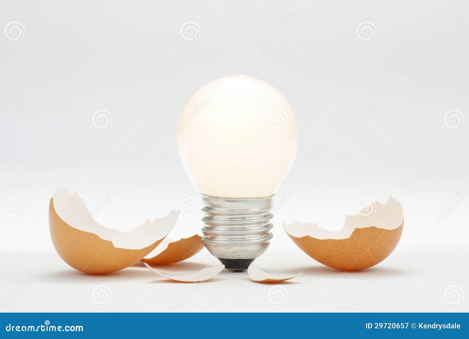 Bright New Innovation Idea Hatching Royalty Free Stock